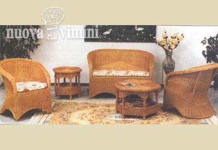 Salotto in midollino nuova vimini for Arredamento etnico padova