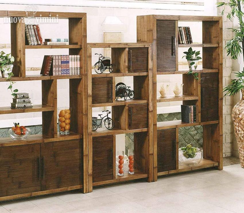 Librerie crash bambu nuova vimini - Mobili di vimini ...