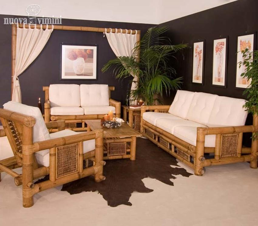Salotto in bamboo grosso prezzi offerte - Salotto da esterno offerta ...