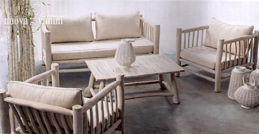Salotto etnico da giardino shael bianco for Salotto bianco