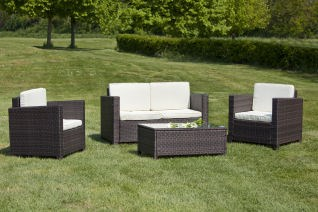 Salotto Boston in Rattan Sintetico