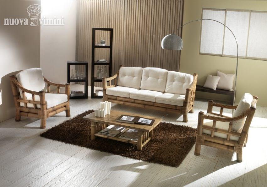 Salotto In Bamboo.Salotto Kona In Bamboo Nuova Vimini