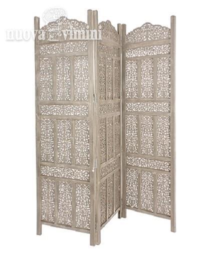 Separe 39 legno intagliato colore tortora grigio prezzi - Separe prezzi ...