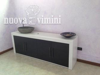 Arredo Bagno In Vimini.Arredo Bagno Diamante White Black Prezzi Offerte