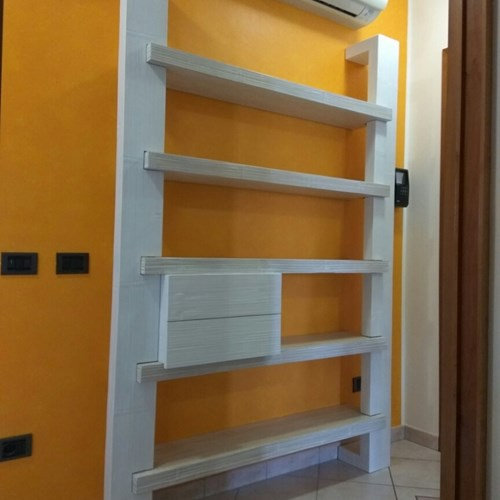 Libreria light cresh bambu white-decapato bianco
