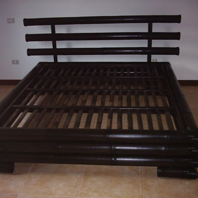 letto 3 canne in bamboo