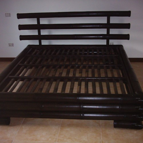 Letto 3 Canne Bamboo Black