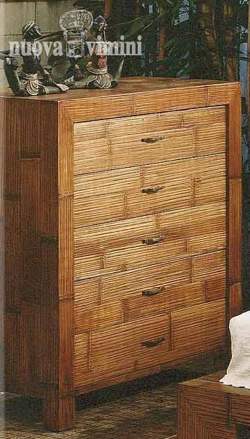Cassettiera essenzial nuova vimini - Mobili in bambu ...