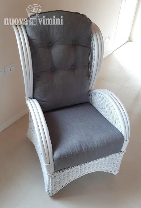 Poltrona Bergere Elegance 626 white-gry: Prezzi, Offerte