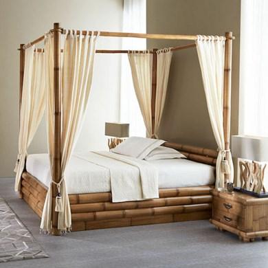 Letto Baldacchino Economico.Letti In Bambu Bamboo Etnici Anche Su Misura